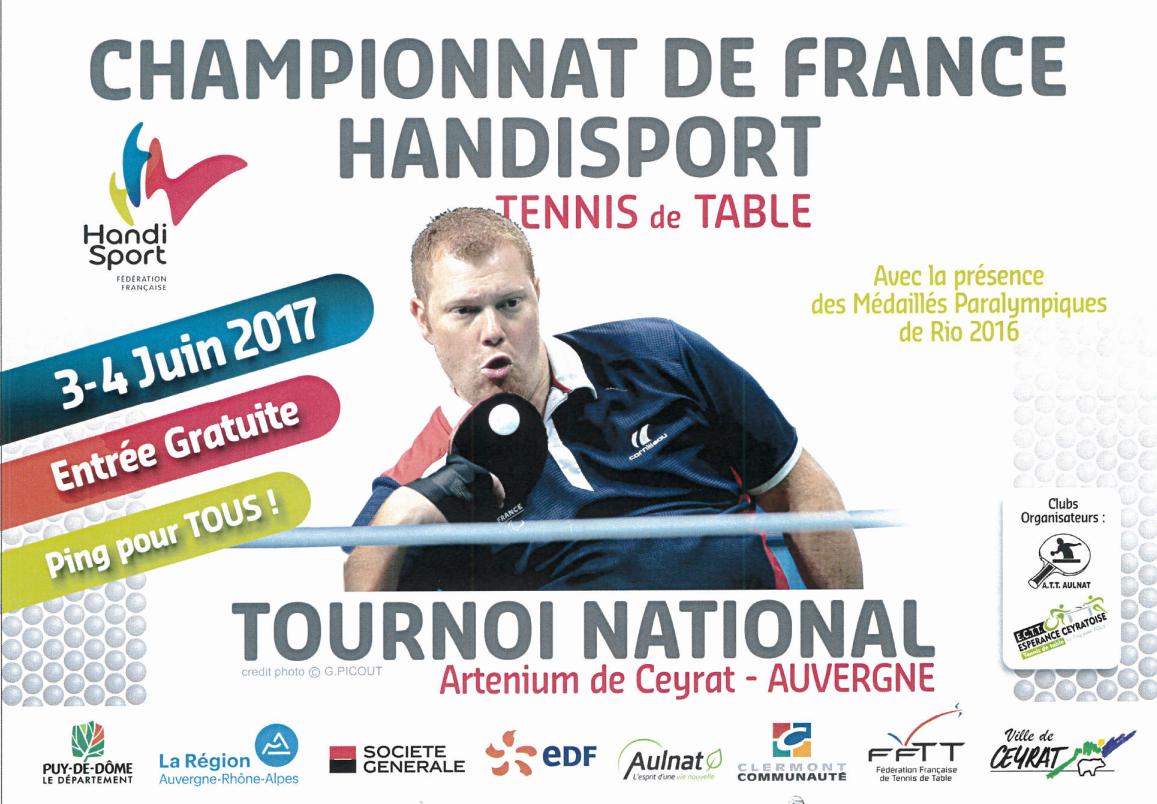 Venez encourager des champions greta auvergne - Championnat de france tennis de table ...