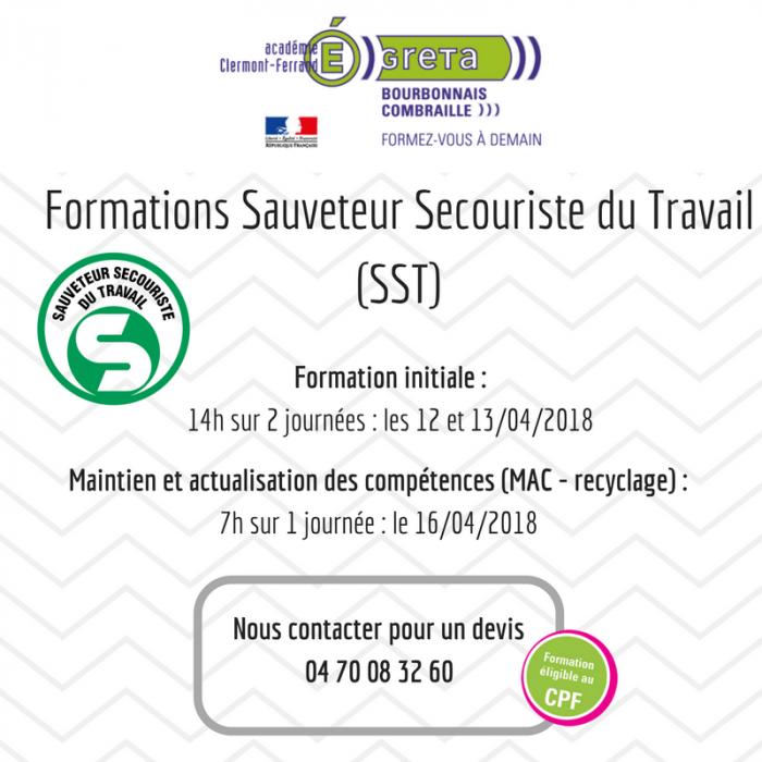 Formations Sauveteur Secouriste du Travail (SST) (1)