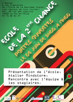 E2C affiche Journée portes ouvertes juin 2018