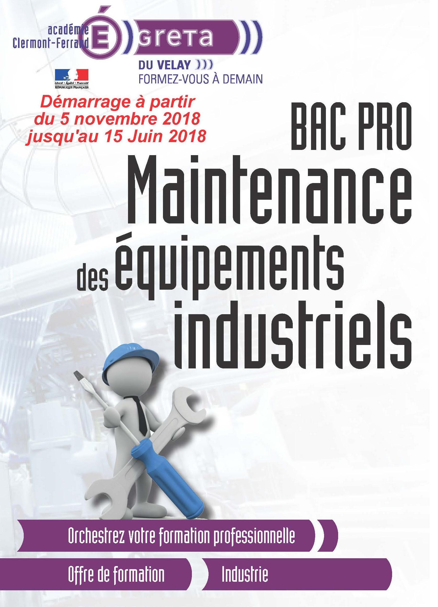 formation bac pro mei  maintenance des  u00c9quipements industriels    greta auvergne