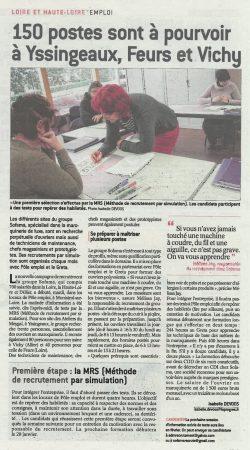 150 postes sont à pourvoir à Yssingeaux, Feurs et Vichy la tribune du 9 janvier 2019
