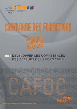 Catalogue des formation CAFOC - Année 2019